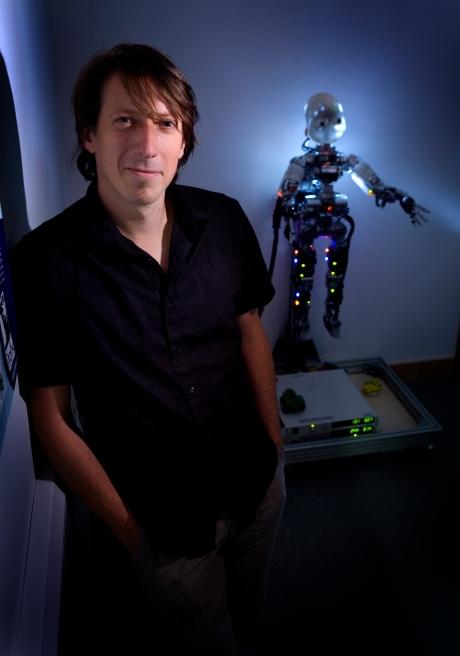 Tony Belpaeme Lecturer in Intelligent and Autonomous Control Systems Robotics *** Local Caption *** robot, showcase page, robotics, computing, science, robots